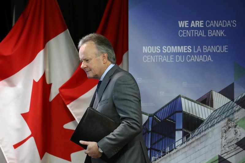 Bank of Canada Governor Stephen Poloz arrives at a news conference in Ottawa