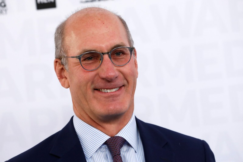 John Stankey, CEO of WarnerMedia poses as he arrives at the WarnerMedia Upfront event in New York