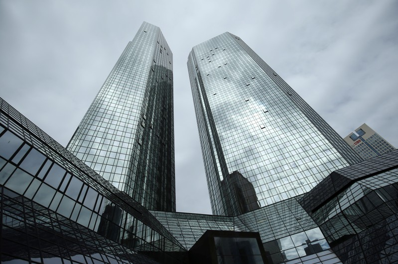 FILE PHOTO: Deutsche Bank headquarters in Frankfurt