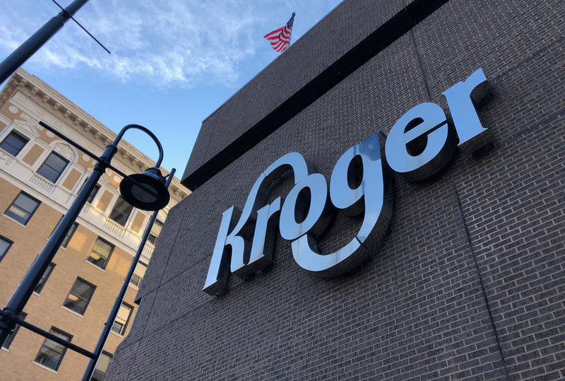 The Kroger supermarket chain's headquarters is shown in Cincinnati
