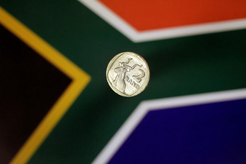 FILE PHOTO: Illustration photo of a two Rand coin from South Africa