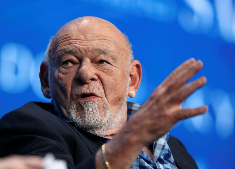 Sam Zell, founder and chairman at Equity Group Investments, speaks during the SALT conference in Las Vegas