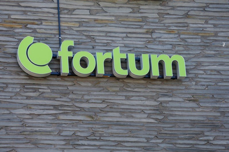 Finnish energy company Fortum sign is seen at their headquarters in Espoo