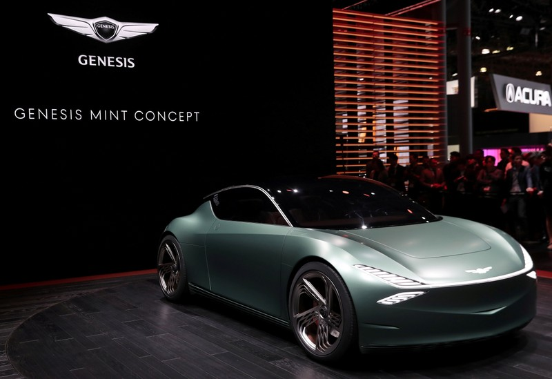 FILE PHOTO: The Genesis Mint concept car is revealed at the 2019 New York International Auto Show in New York City