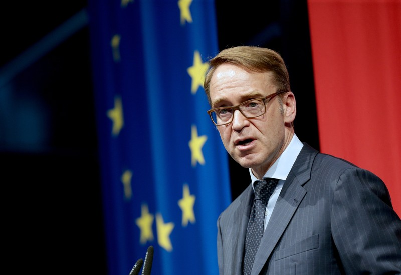 Germany's Bundesbank President Jens Weidmann speaks during an economics conference in Linz