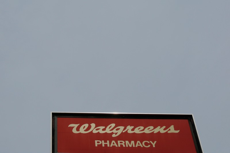A sign marks a Walgreens pharmacy in Somerville