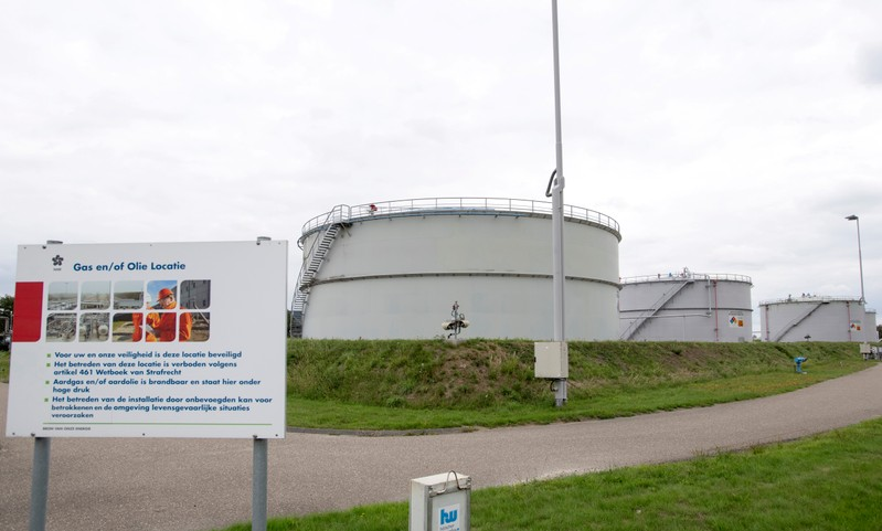 FILE PHOTO: General view of a facility of Dutch gas production company NAM in Farmsum