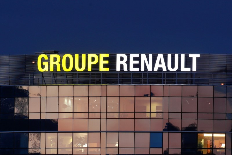 FILE PHOTO: General view of the Renault automaker company headquarters is seen in Boulogne-Billancourt, near Paris