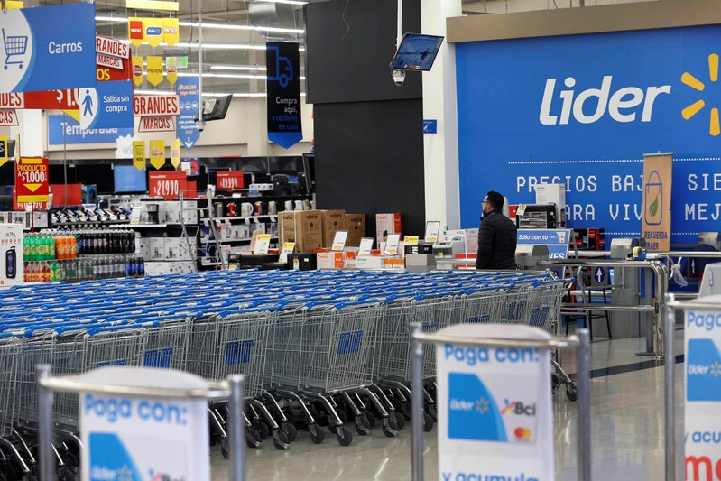 The supermarket Lider of the retailer Walmart is seen in Santiago