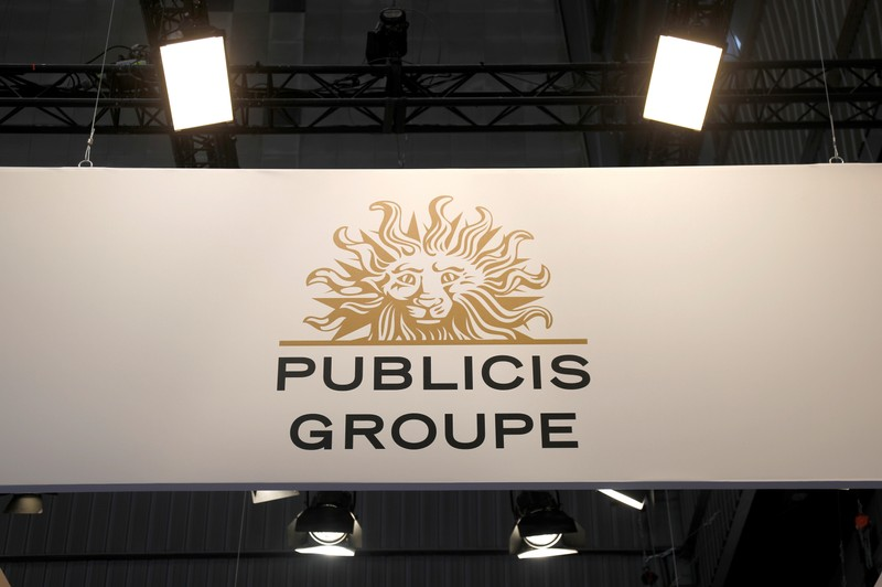 Logo of Publicis is seen at VivaTech fair in Paris