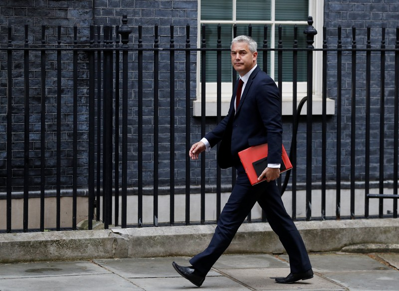 Britain's Secretary of State for Exiting the European Union Stephen Barclay arrives at Downing Street in London