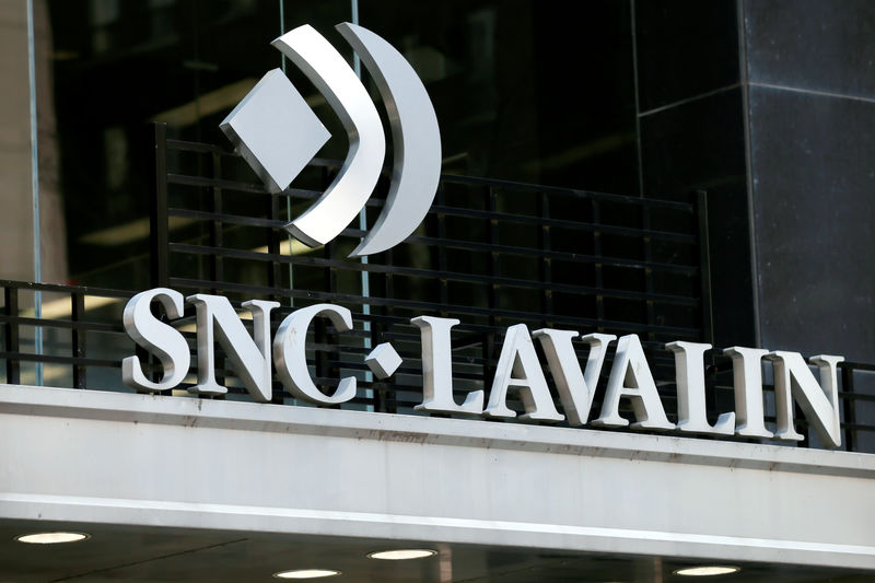 FILE PHOTO: The SNC Lavalin logo is pictured outside a company building in Montreal