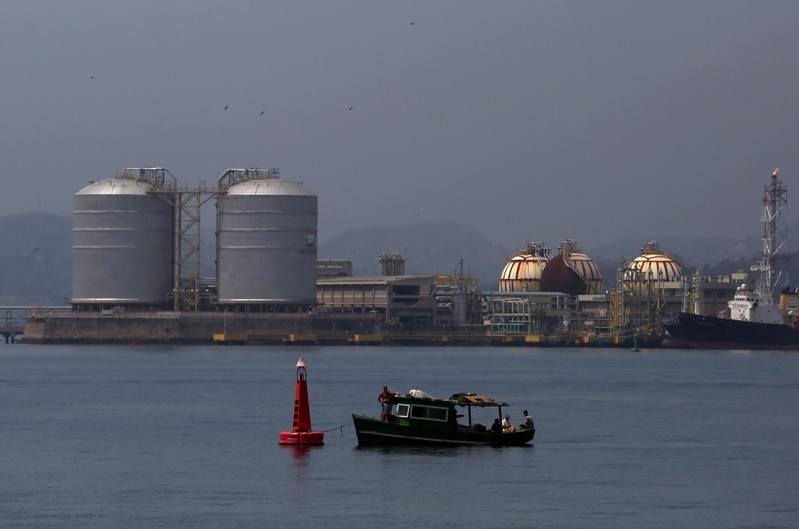 FILE PHOTO: Brazil's state-run oil company Petrobras LPG fuelling stations are seen in the Guanabara bay in Rio de Janeiro