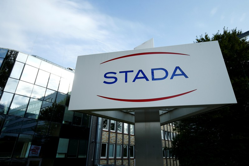 The logo of Stada Arzneimittel AG is pictured at their headquarters in Bad Vilbel near Frankfurt