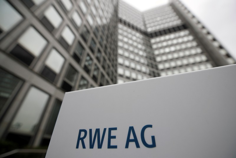 The headquarters of the German power supplier RWE, which plans to break up subsidiary Innogy and share its assets with rival E.ON, is pictured in Essen