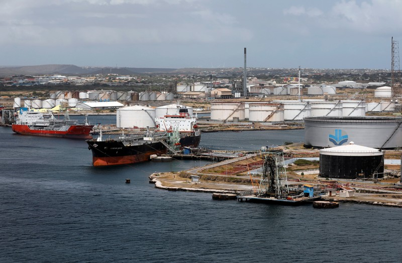 FILE PHOTO:  Crude oil tankers are docked at Isla Oil Refinery PDVSA terminal in Willemstad on the island of Curacao