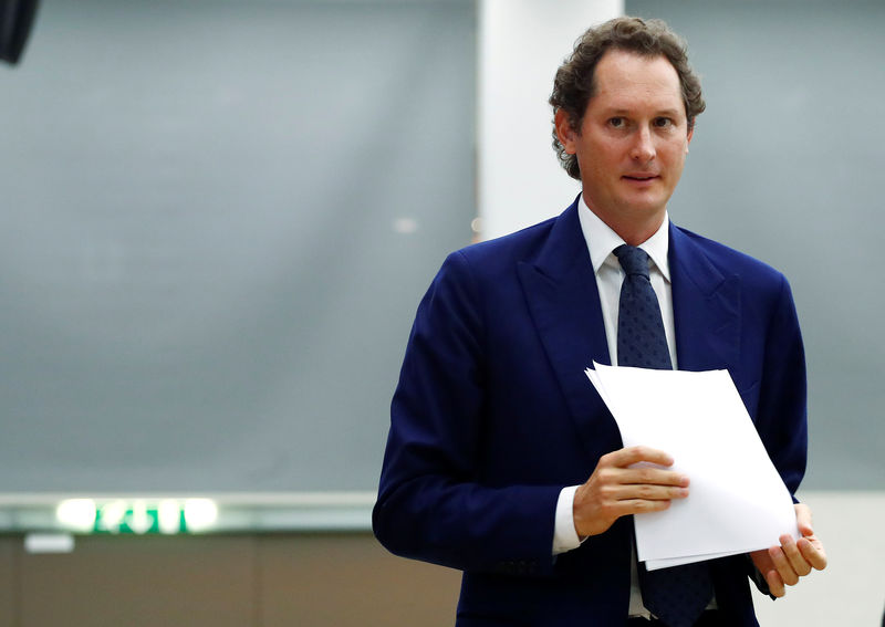 FILE PHOTO: FCA Chairman John Elkann is seen before an event at the Bocconi University in Milan