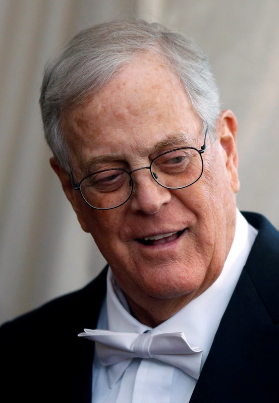 FILE PHOTO: Businessman David Koch arrives at the Metropolitan Museum of Art Costume Institute Gala 2015 celebrating the opening of