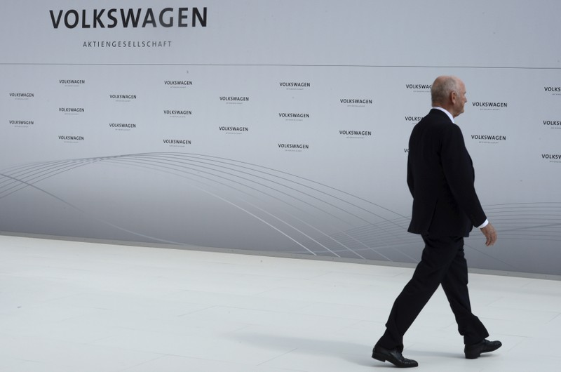 Piech, chairman of the supervisory board of Volkswagen, is pictured during a welcoming ceremony at the plant of German carmaker Volkswagen in Wolfsburg