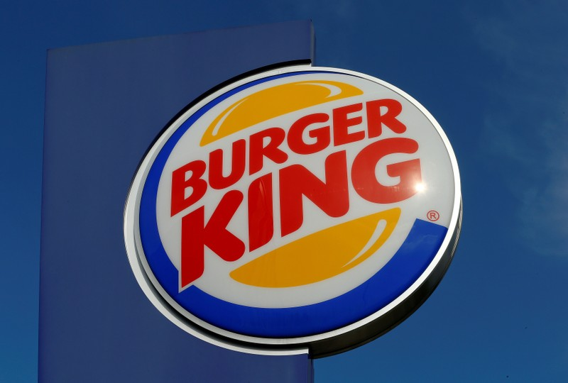 FILE PHOTO: Logo of U.S. fast food group Burger King is seen at a restaurant in Bruettisellen