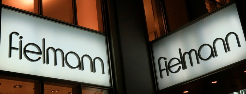 A logo of German optician AG Fielmann is pictured at a branch office in Vienna