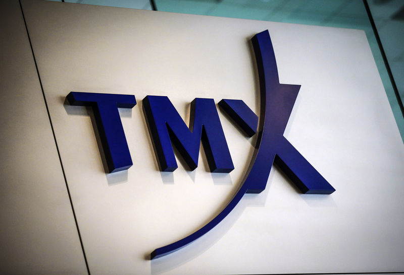 A TMX Group sign, the company that runs the Toronto Stock Exchange, is seen in Toronto