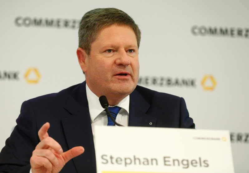 FILE PHOTO: Commerzbank CFO Engels attends the bank's annual news conference in Frankfurt