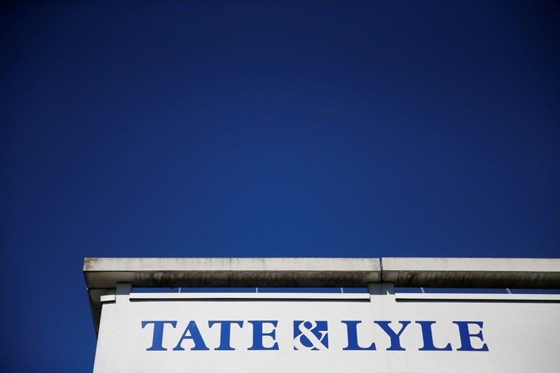 FILE PHOTO: The logo of Tate & Lyle compagny is seen on their European Innovation Centre in Villeneuve d'Ascq