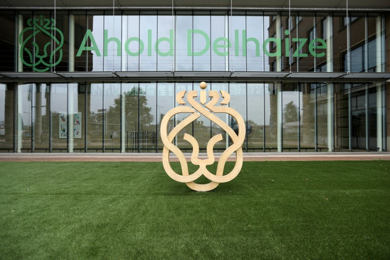 FILE PHOTO: The Ahold Delhaize logo is seen at the company's headquarters in Zaandam