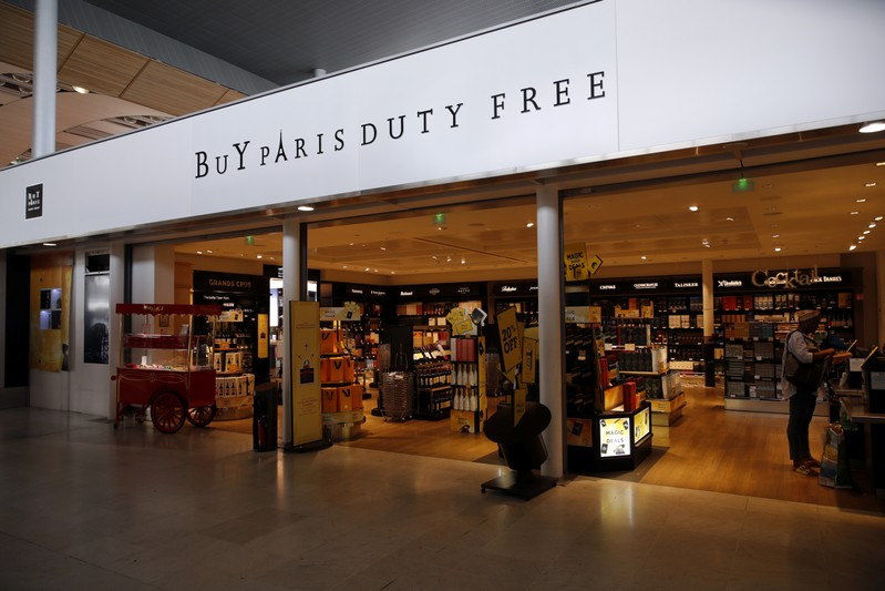 A Buy Paris Duty Free shop is seen at the Paris Charles de Gaulle Airport in Roissy