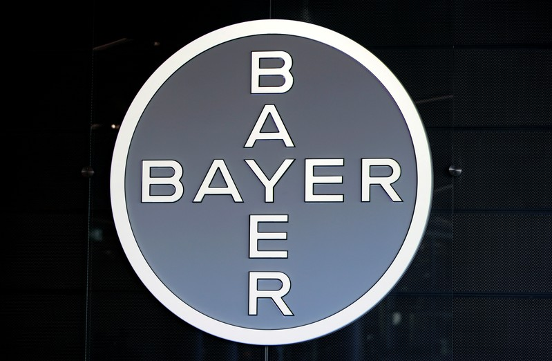 FILE PHOTO:    Logo of Bayer AG is pictured ahead of the the annual results news conference of the German drugmaker in Leverkusen