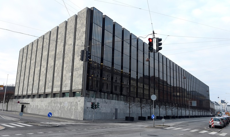 FILE PHOTO: The Danish central bank, also known as Danish Nationalbank, is seen  in Copenhagen