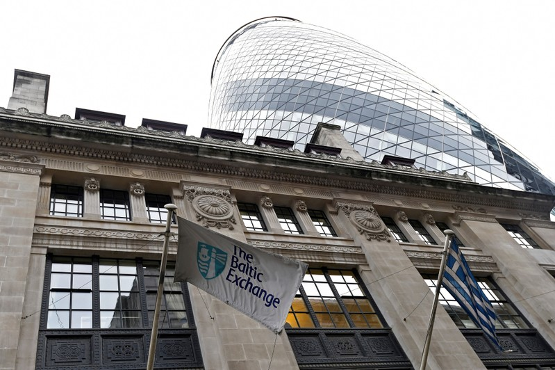 The Baltic Exchange offices are seen in London