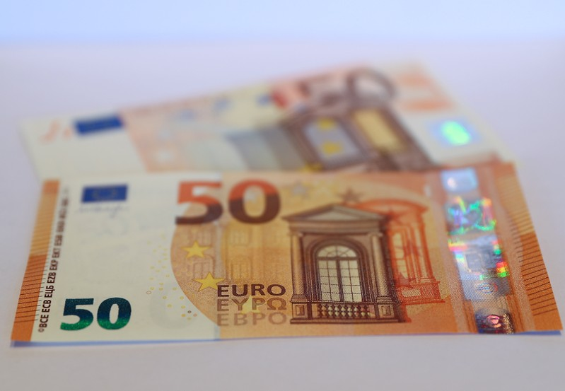 The German Bundesbank presents the new 50 euro banknote at it's headquarters in Frankfurt