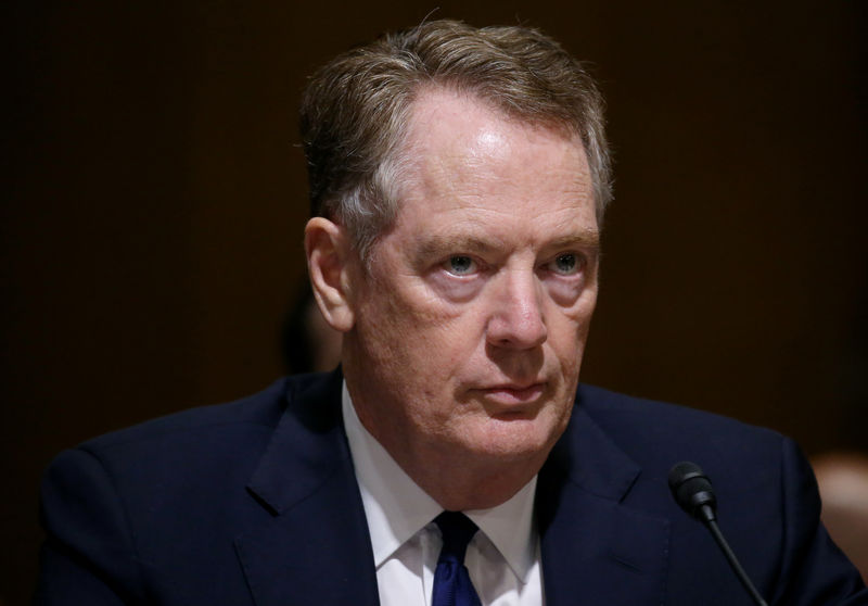 FILE PHOTO: U.S. Trade Representative Lighthizer testifies before a Senate Finance Committee hearing in Washington, U.S.