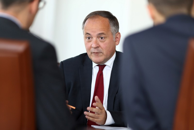Benoit Coeure, board member of the European Central Bank (ECB), is photographed during an interview with Reuters journalists at the ECB headquarters in Frankfurt