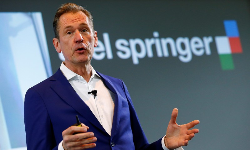 CEO of German publisher Axel Springer SE Doepfner holds a speech during the annual news conference in Berlin