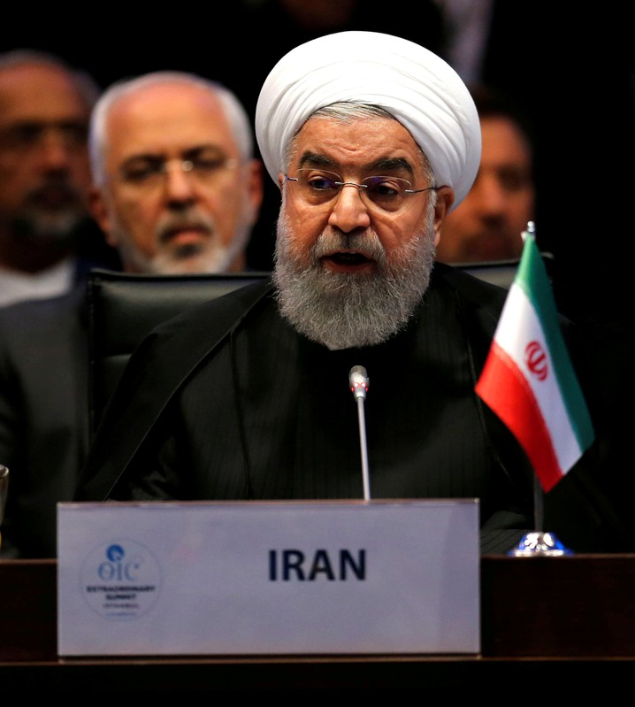 FILE PHOTO: Iran's President Rouhani speaks during an extraordinary meeting of the OIC in Istanbul
