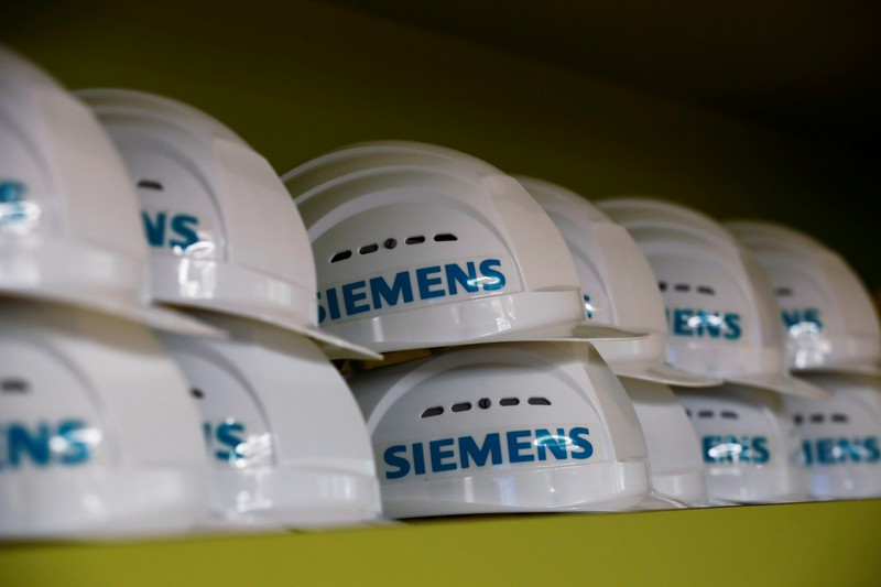 German Chancellor Merkel visits Siemens plant in Goerlitz