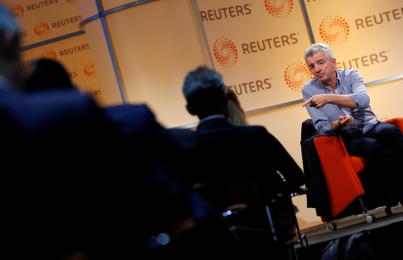 Ryanair Chief Executive Michael O'Leary attends a Reuters Newsmaker event in London