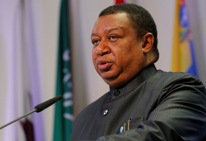 OPEC Secretary-General Barkindo addresses a news conference in Vienna