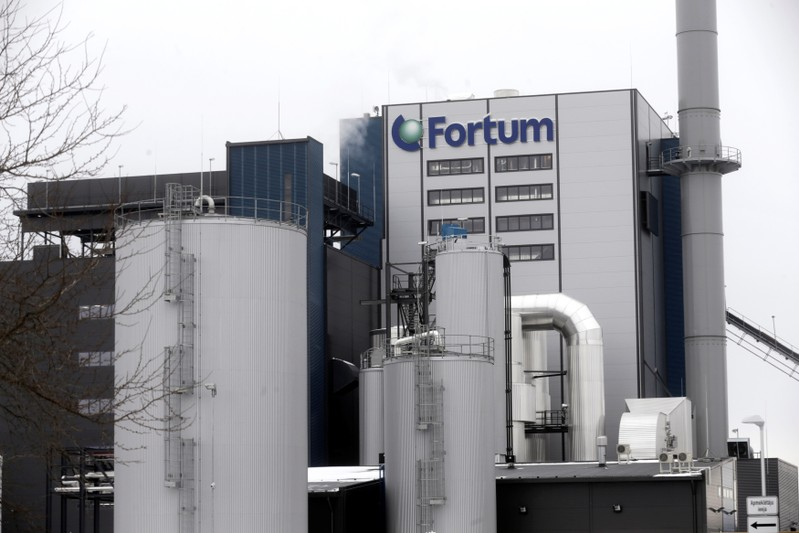 FILE PHOTO: Fortum biomass combined heat and power plant is pictured in Jelgava