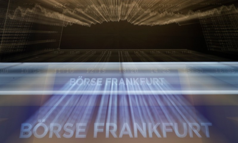 The German share prize index (DAX) board is seen at the end of a trading day at the German stock exchange (Deutsche Boerse) in Frankfurt