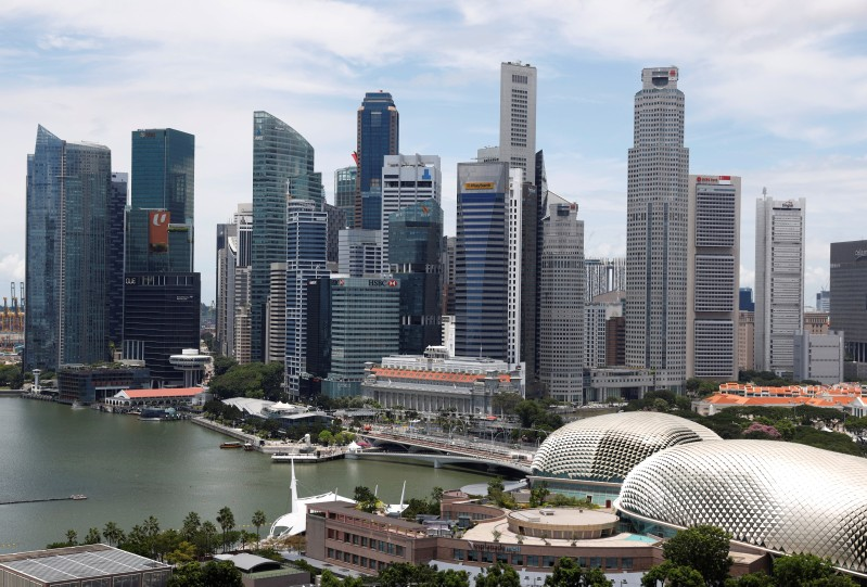A view of the skyline in Singapore