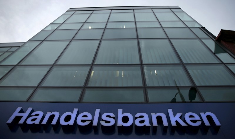 A branch of Handelsbanken is seen in Wilmslow