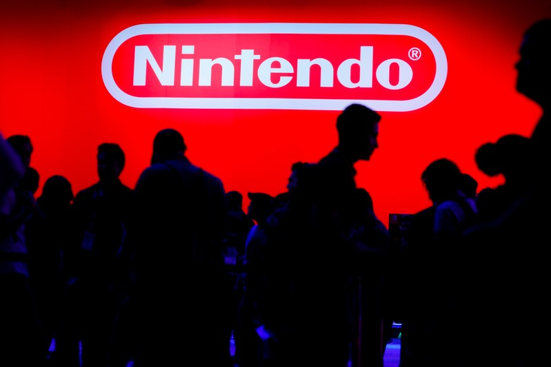 FILE PHOTO: A display for the gaming company Nintendo is shown during opening day of E3 in Los Angeles