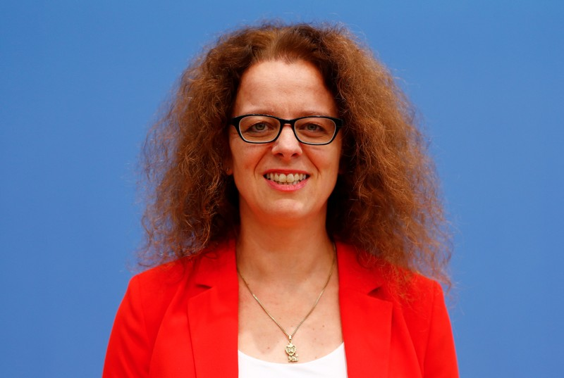 Member of the German advisory board of economic experts Isabel Schnabel poses ahead of a news conference in Berlin