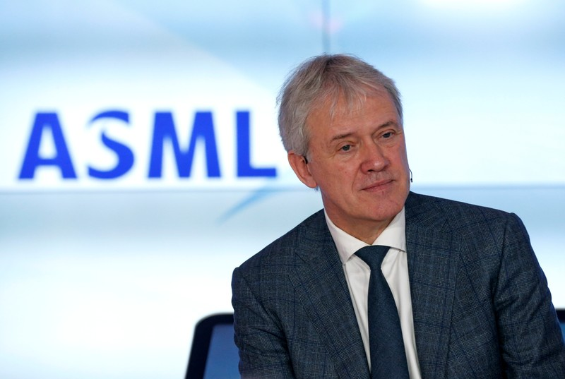 ASML Holding CEO Peter Wennink attends a news conference after fourth quarter earnings, in Eindhoven