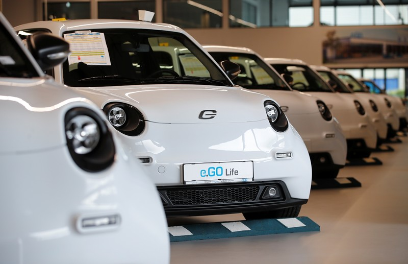 E.GO Mobile AG starts its production line for 30.000 electric cars fully developed and produced by the German start-up firm in Aachen