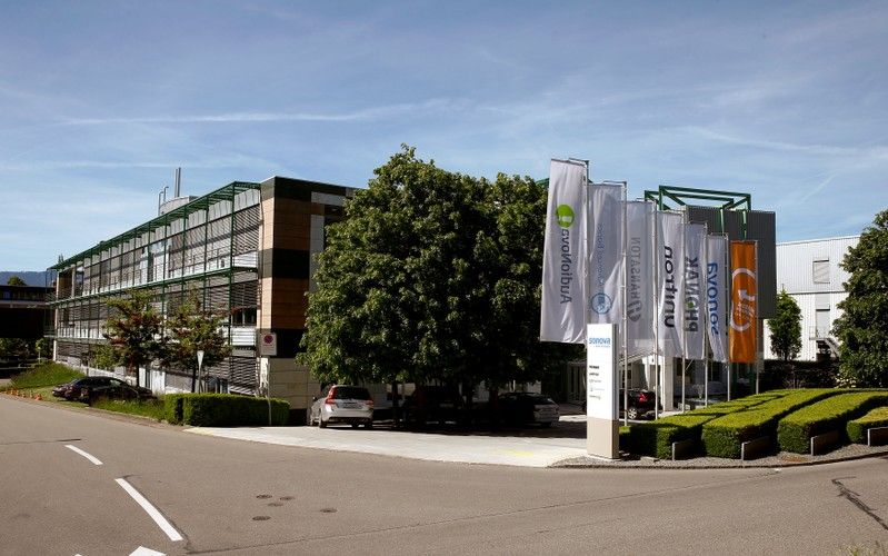 FILE PHOTO: General view of headquarters of Swiss hearing aid maker Sonova in Staefa